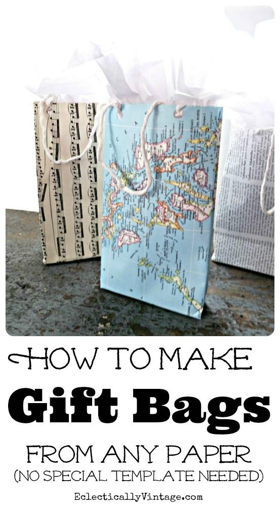 Easy Paper Gift Bag Tutorial