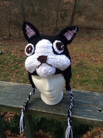 Boston Terrier Hat Free Crochet Pattern