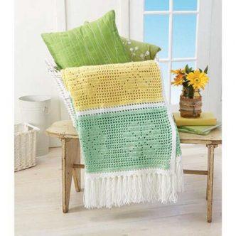 Daisy Filet Throw Free Crochet Pattern