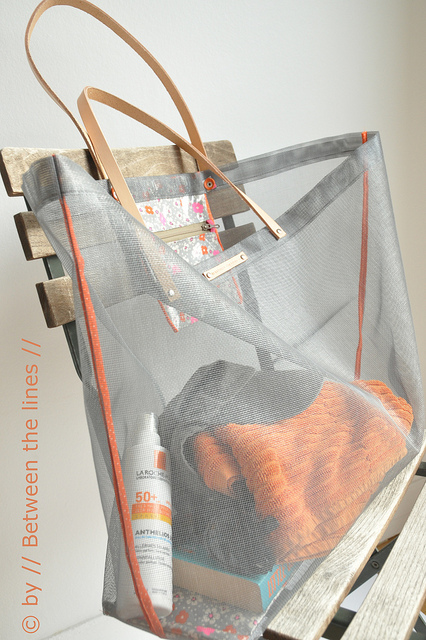 Mesh Beach Bag Sewing Tutorial