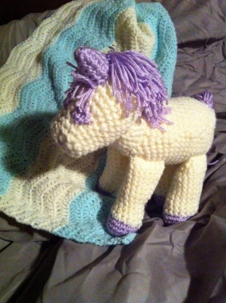 Free Unicorn Knitting Pattern : Unicorn crochet stuffed animal pattern allcrafts free