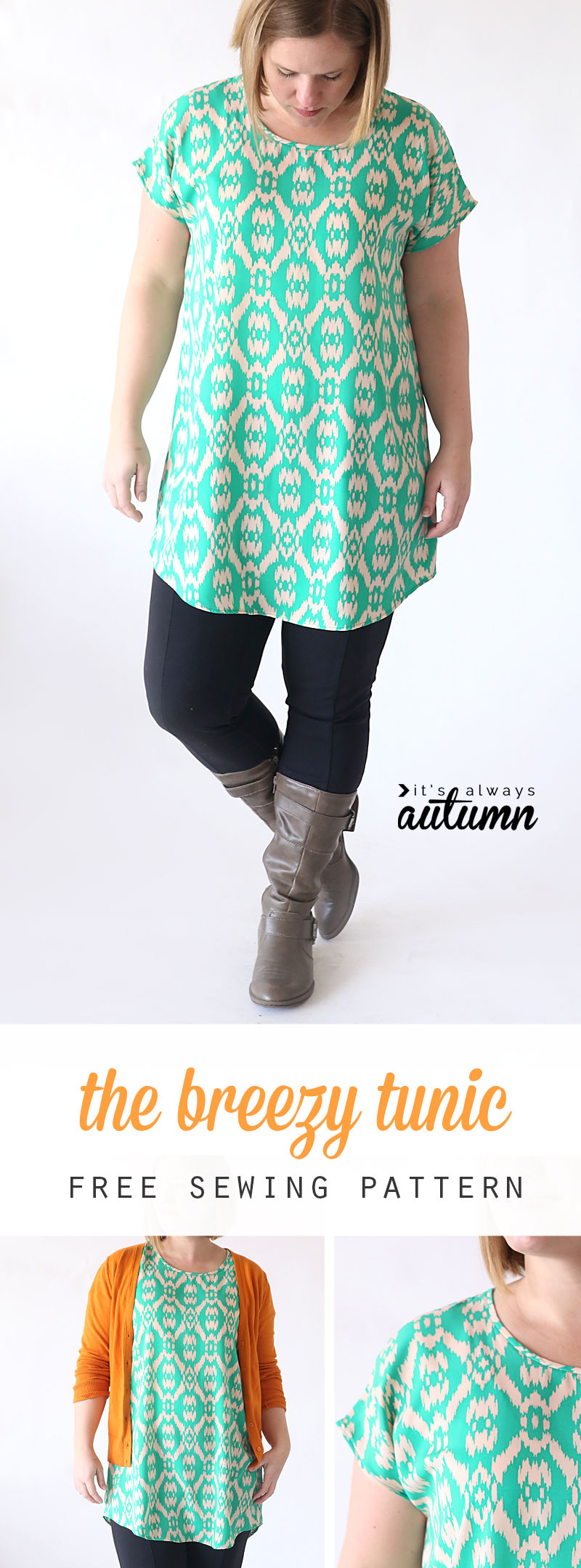 The Breezy Tunic Free Women's Sewing Pattern
