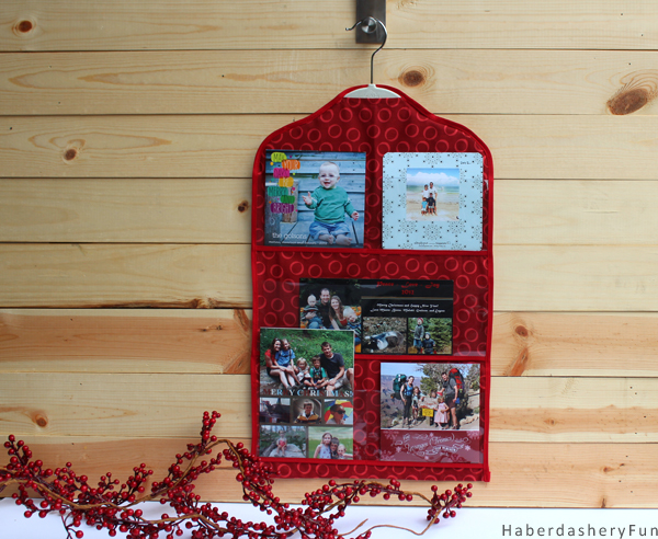 Make A Mini Holiday Card Organizer