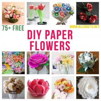 75+ DIY Paper Flowers