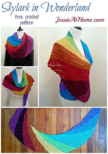 Skylark Shawl Free Crochet Pattern