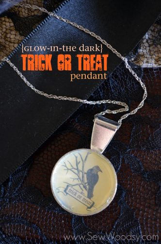 Halloween {Glow-in-the Dark} Trick or Treat Pendant