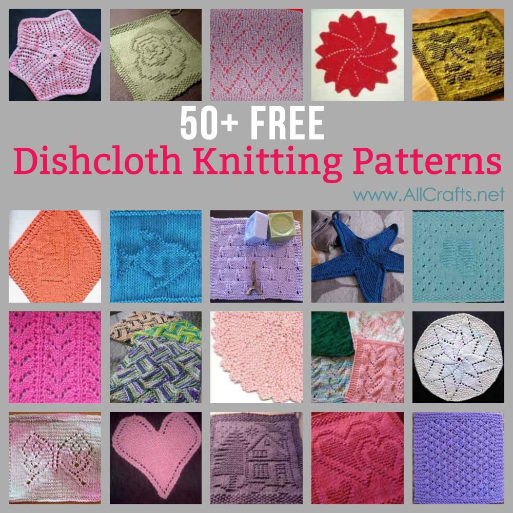 50+ Free Dishcloth Knitting Patterns
