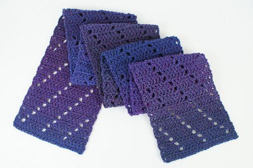 Leaning Ladders Scarf Crochet Pattern