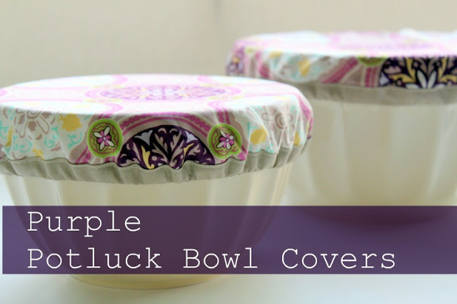 Purple Potluck Bowl Covers Sewing Tutorial