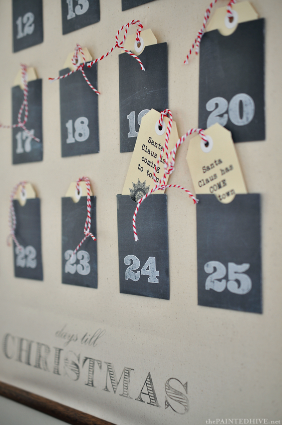 Christmas Advent Calendar Wall Chart