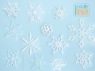 12 Snowflakes for Christmas Tree Free PDF Crochet Pattern