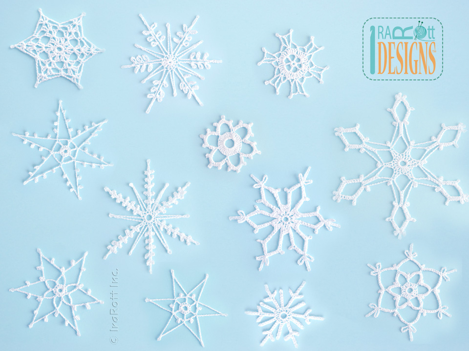 12 Snowflakes For Christmas Tree Free Crochet Pattern Allcrafts