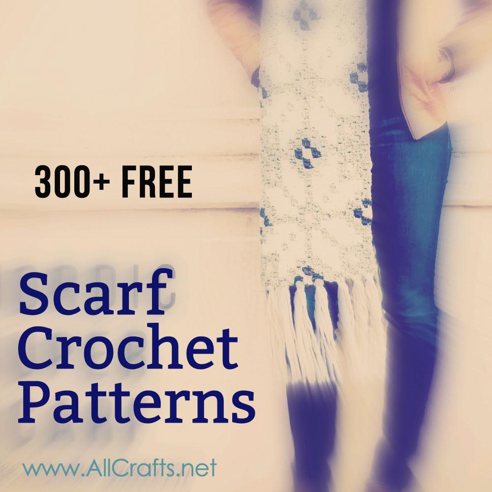300 Free Crochet Scarf Patterns