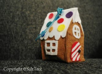 Felt Gingerbread House Ornament