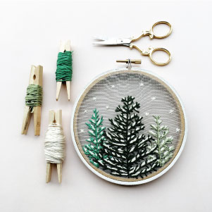 Snowfall Embroidery Pattern