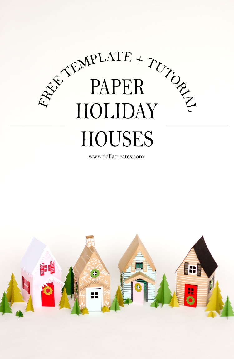 Paper Holiday Houses – Free Templates
