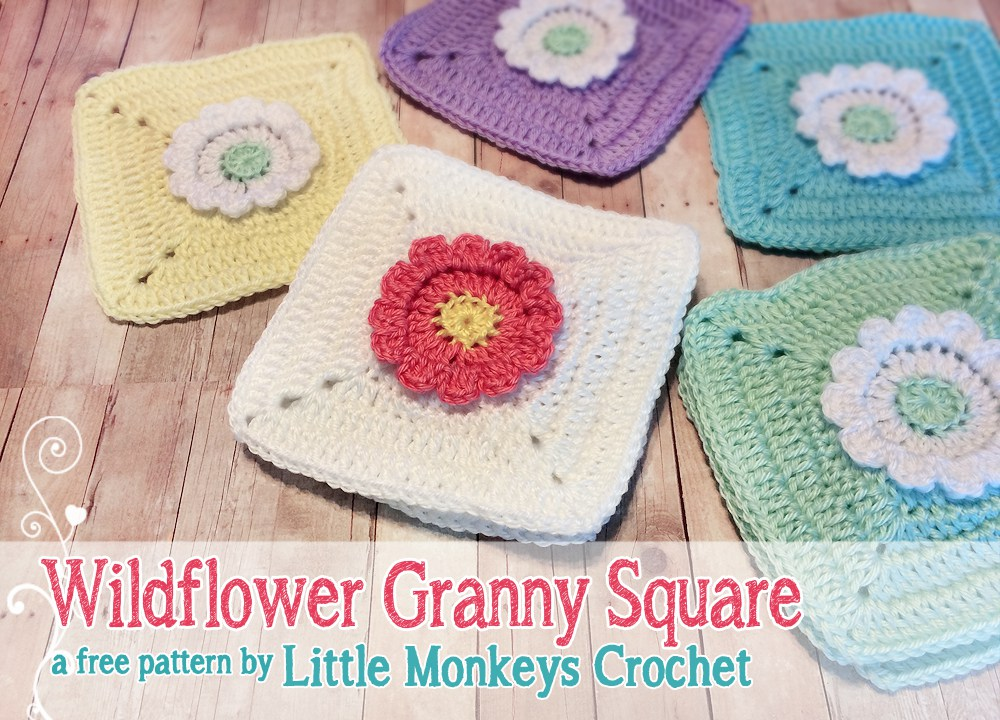 Wildflower Granny Square Crochet Pattern