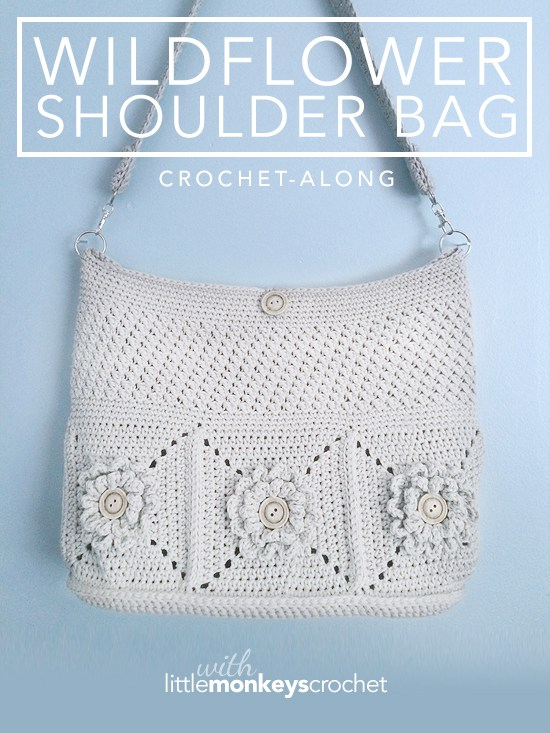 Wildflower Shoulder Bag Free Crochet Pattern