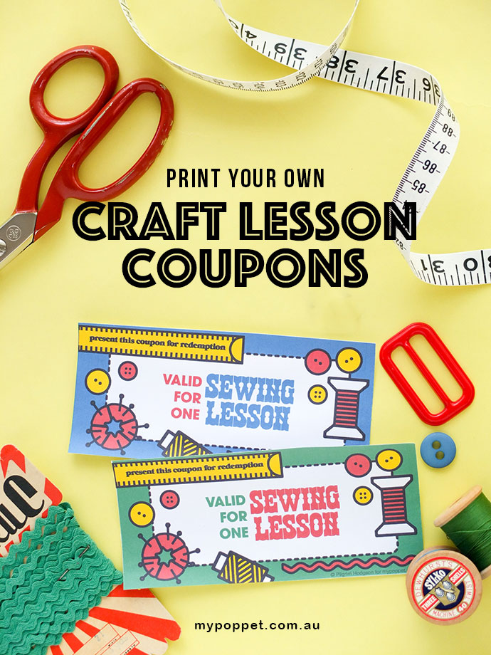 Printable Craft Lesson Gift Certificates