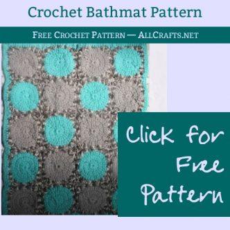 Free Crochet Bathmat Pattern