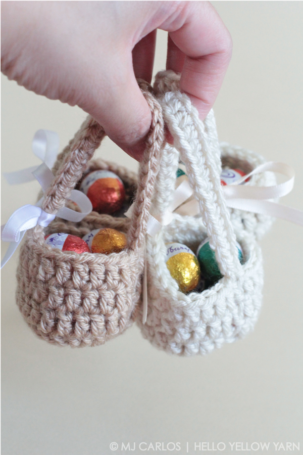 Mini Easter Eggs Basket Crochet Pattern ? AllCrafts Free ...