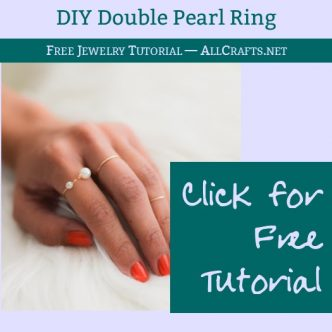 DIY Double Pearl Ring
