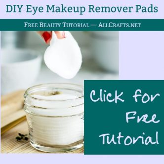 DIY Eye Makeup Remover Pads
