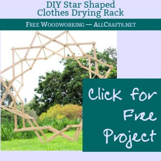 DIY Star Shaped Clothes Drying Rack