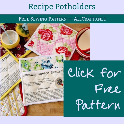 DIY Recipe Potholders Sewing Tutorial