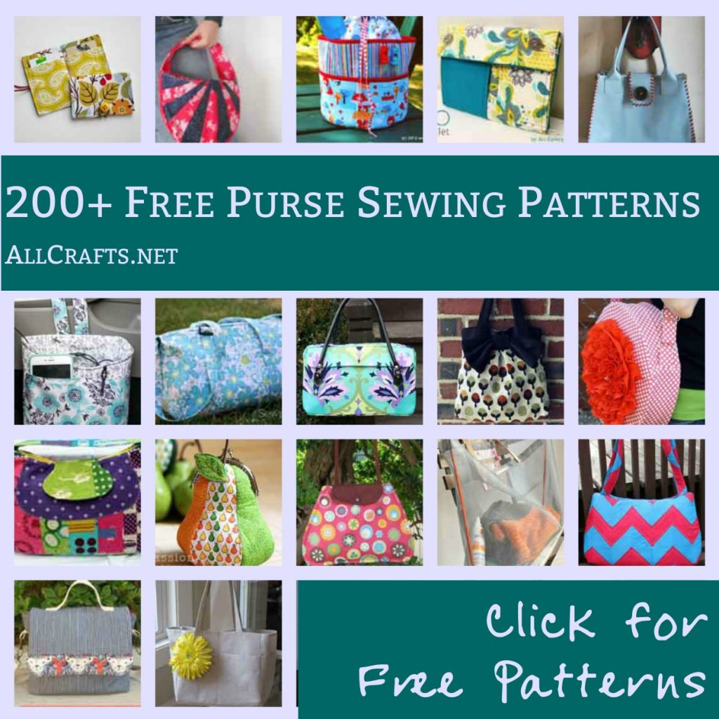 200+ Free Purse Sewing Patterns