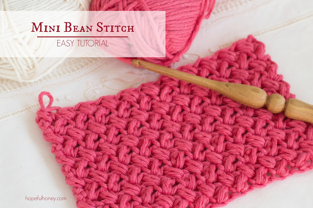 How To Crochet The Mini Bean Stitch