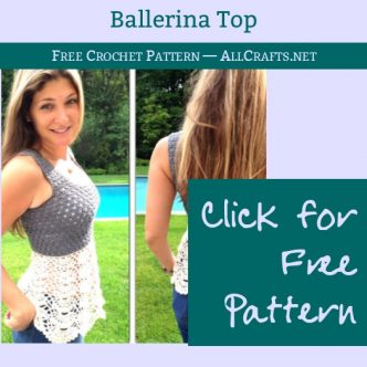 Ballerina Top Adult Size Free Crochet Pattern