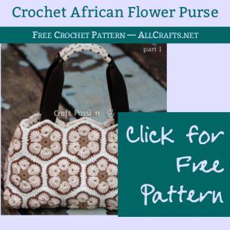 Free Flower Purse Crochet Pattern