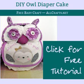 DIY Owl Diaper Cake