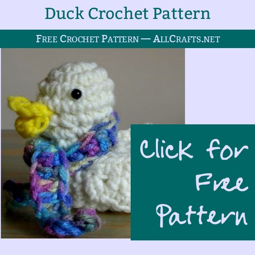 A Duck for Easter Crochet Pattern