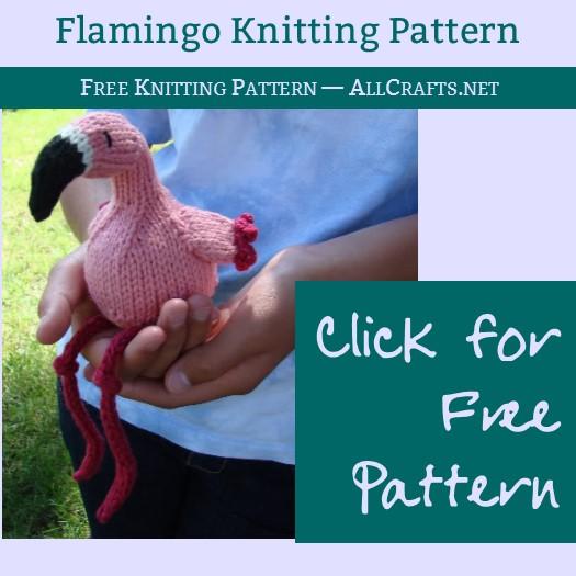 Flamingo Free Knitting Pattern Allcrafts Free Crafts Update