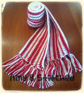 Peppermint Stripes Hat and Scarf Free Crochet Pattern