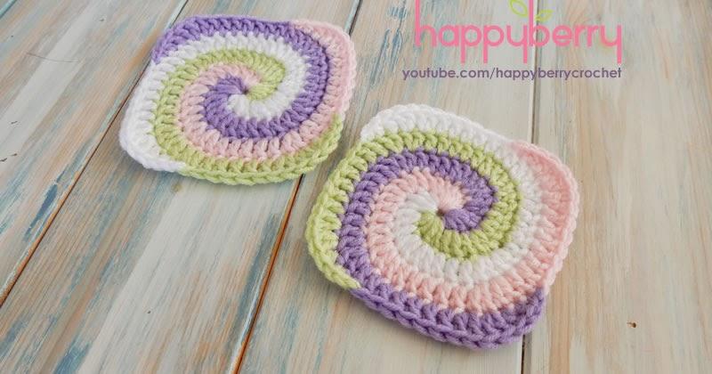 Spiral Granny Square Crochet Pattern