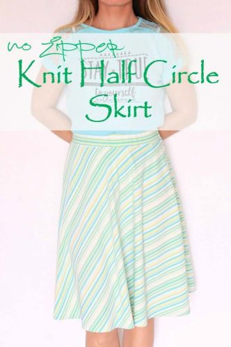 Easy Half Circle Skirt Sewing Pattern