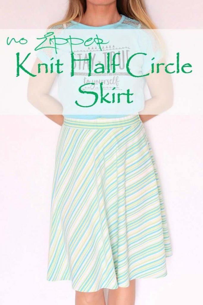 Easy Half Circle Skirt Sewing Pattern