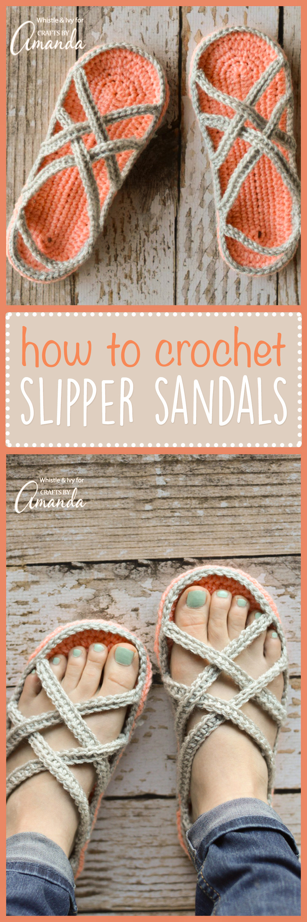 Crochet Slipper Sandals Free Pattern