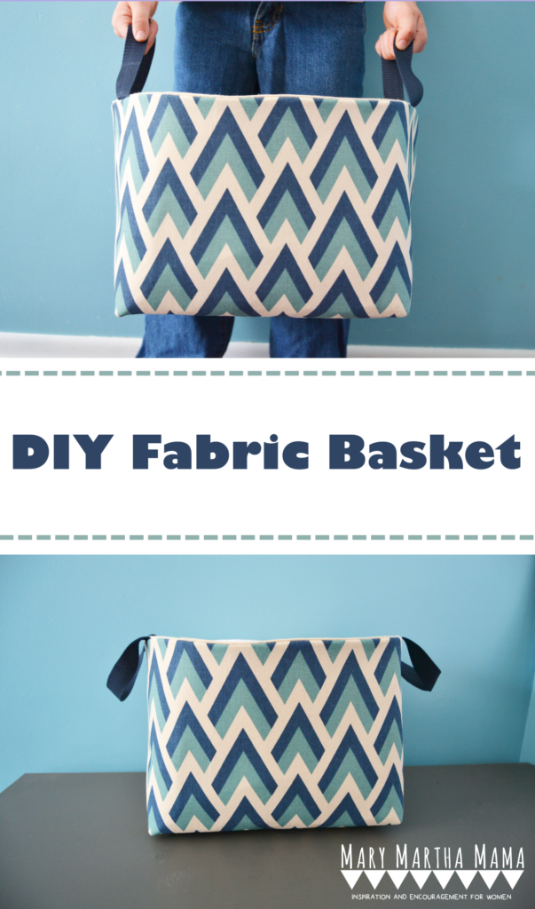 DIY Fabric Basket Sewing Tutorial