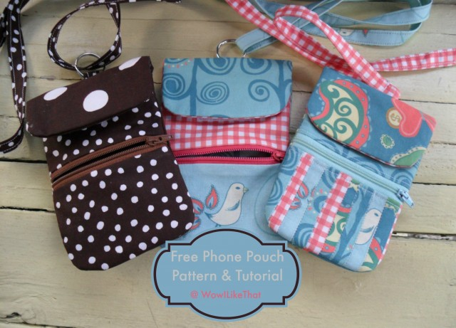 Phone Pouch with Zipper Sewing Pattern