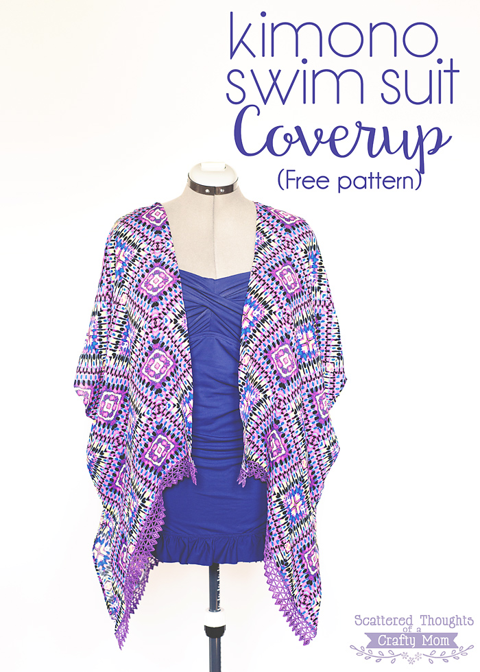 Kimono Swim Suit Cover Up Free Sewing Pattern