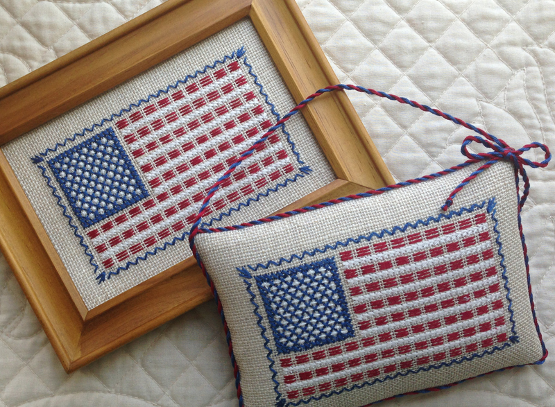 Counted Thread Flag Free Embroidery Pattern
