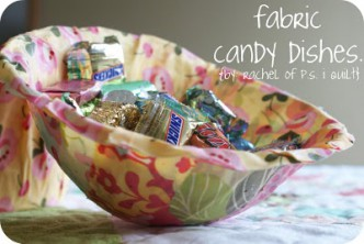 Easy Fabric Candy Dishes