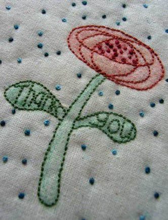 Thank You Flower Embroidery Pattern