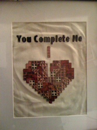 Tetris Heart Cross Stitch Pattern
