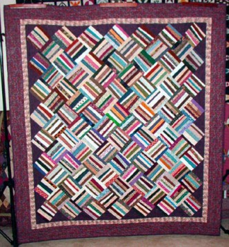 Basket Weave Strings Quilt Pattern