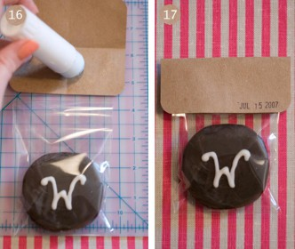 Monogrammed Moon Pie Wedding Favors